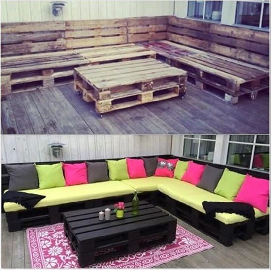 Outdoor Pallet Loungers