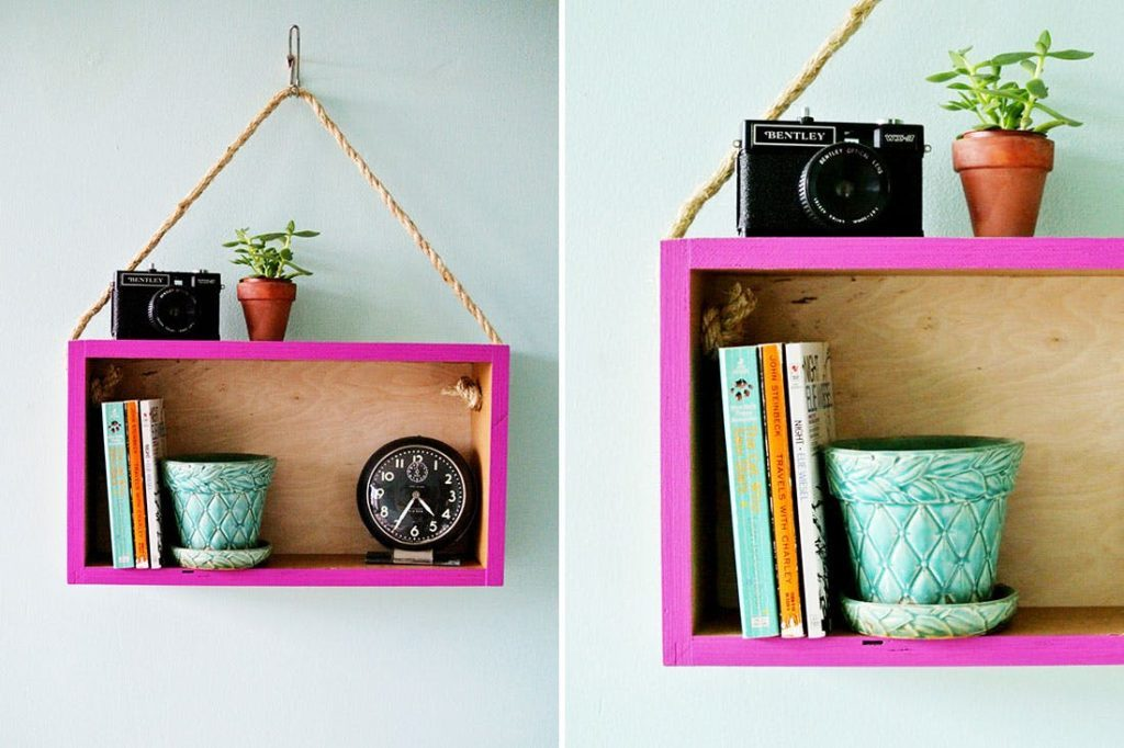 Awesome DIY Wall-Mounted Box Shelves