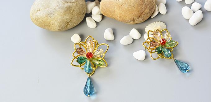 Fancy DIY Floral Earrings