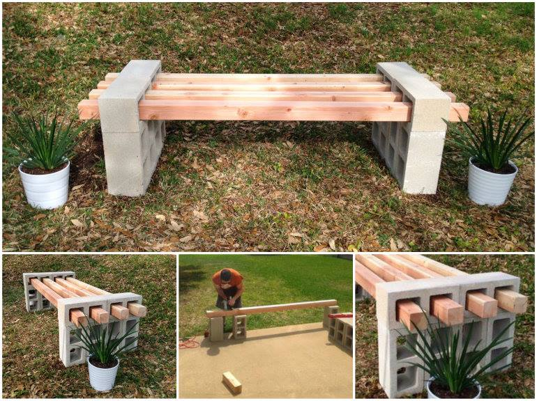 Cool DIY Cinder Block Bench