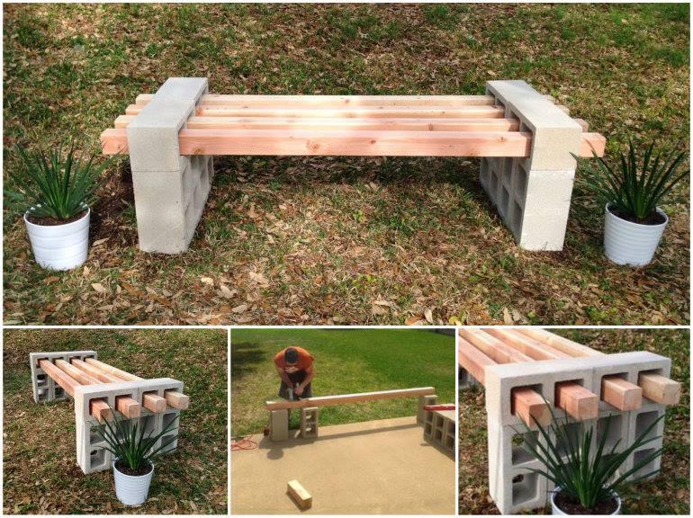 Cool DIY Cinder Block Bench