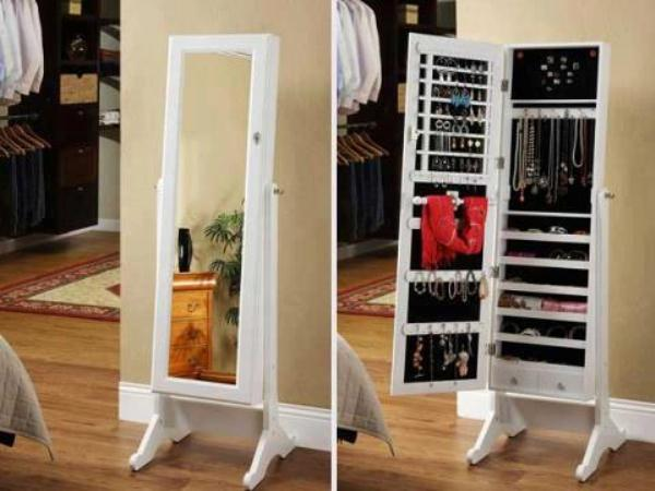 Awesome Stylish Jewelry Armoire Cheval Mirror
