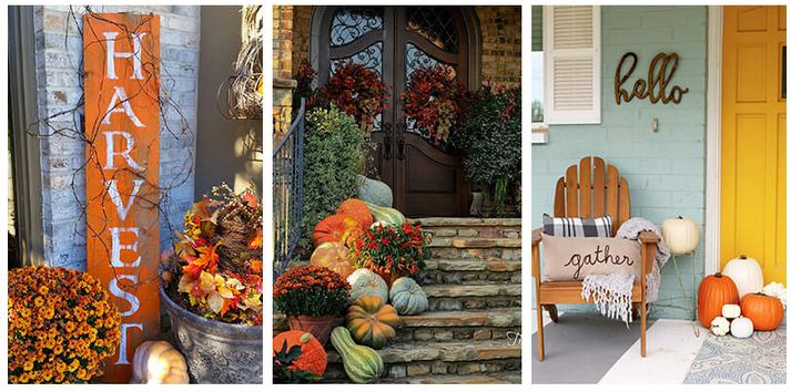 Awesome Fall Front Door Decor Ideas