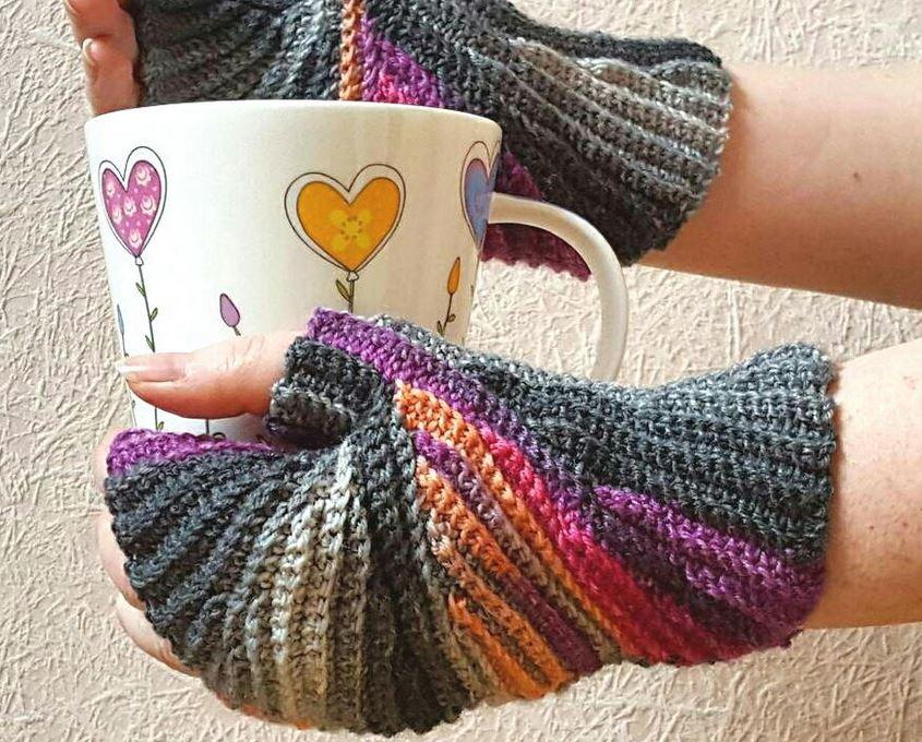 Cool Crocheted Fingerless Mitten Patterns