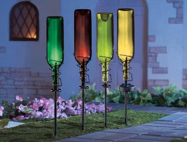 Cool DIY Glass Bottle Decor Ideas