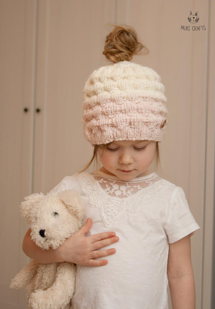 Amazing Knitted Messy Bun Hat Patterns