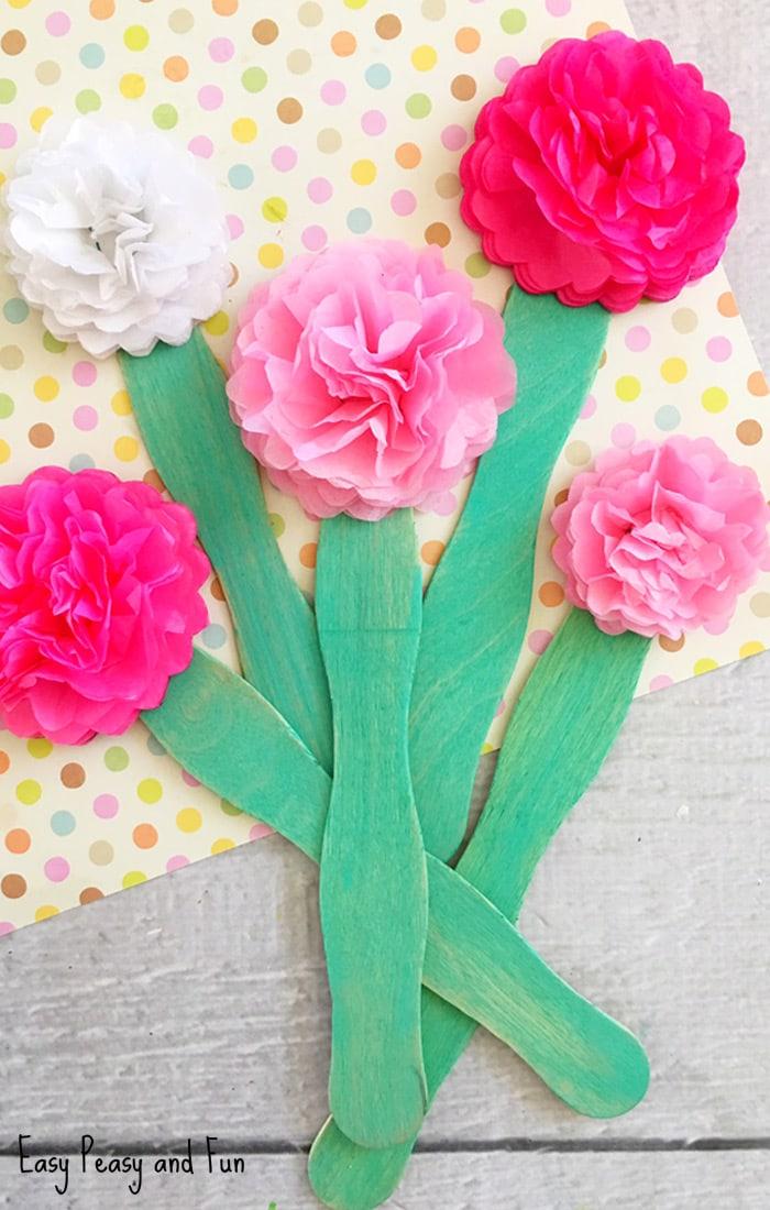 Unique Floral Kids Crafts For Spring