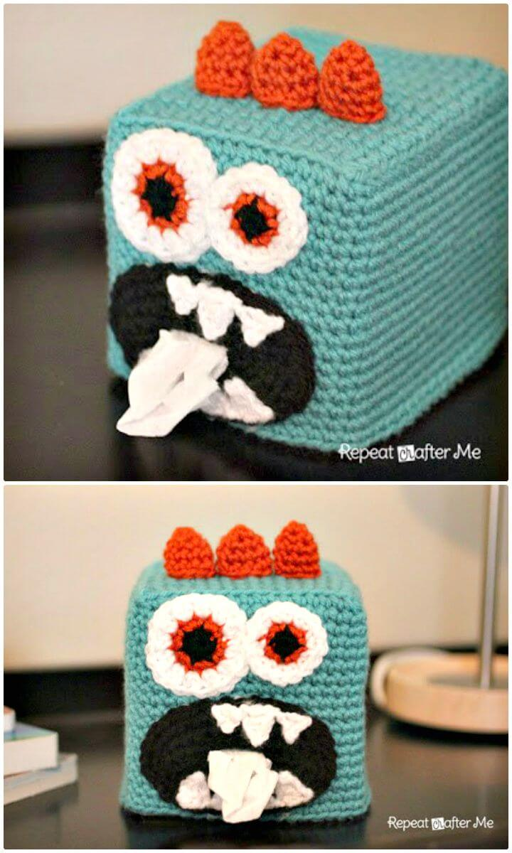 Elephant Tissue Box Cover Free Crochet Pattern - Cool Creativities | 1200x720
