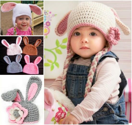 8 Amazing Patterns for Crochet Floppy Bunny hats